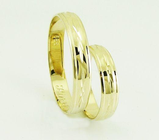 złote obrączki przepiękny wzór od producenta