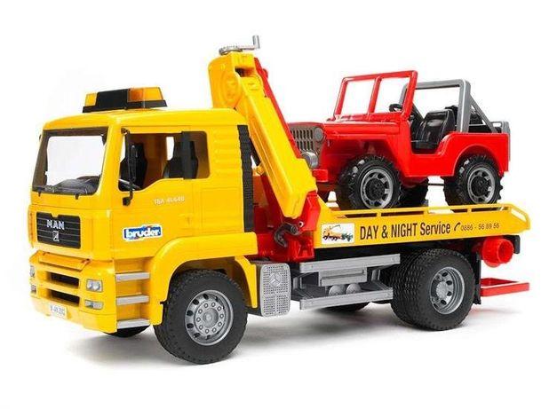 Bruder Ciężarówka MAN pomoc drogowa z Jeepem