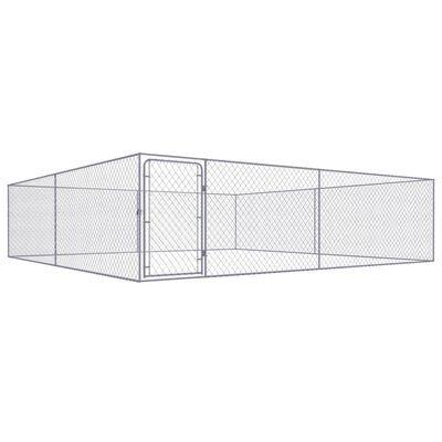 Canil de exterior em aço galvanizado 4x4x1 m **envio grátis**