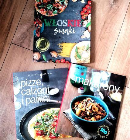 Włoskie Smaki dwie książki kucharskie makarony pizza calzone panini
