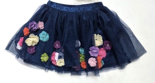 Нарядная юбка-пачка Children's Place, с 3D цветами, на 7-9 лет