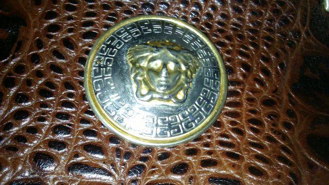 Torebka damska brązowa retro skóra węża Versace