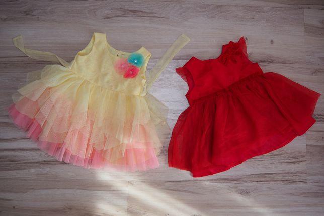 zestaw dwóch pięknych eleganckich sukienek, rozm. 62-68