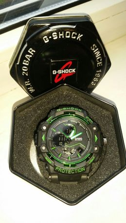Крутые часы  G-SHOCK GST-B100x BLACK-GREEN