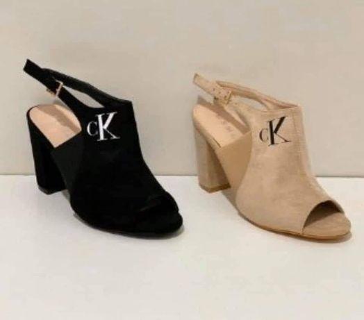Sandałki buty na obcasie słupku CK Calvin Klein 36, 37, 38 39 40, 41