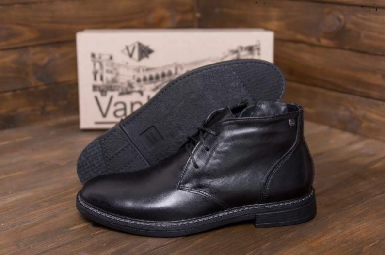 ботинки vк 668 VАNKRІSTІ Зимние кожаные мужские Стильные Николаев - изображение 1