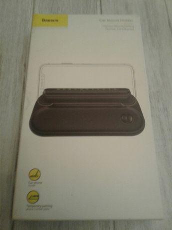 Парковочная карта с держателем для телефона Baseus Horizon Black