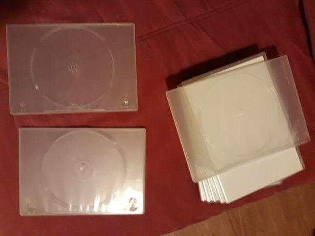 12 caixas DVD transparentes