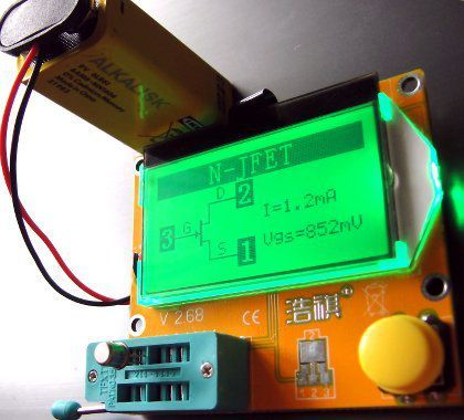 Мультиметр автоматический тестер радиодеталей L,C,R,JFET и др.
