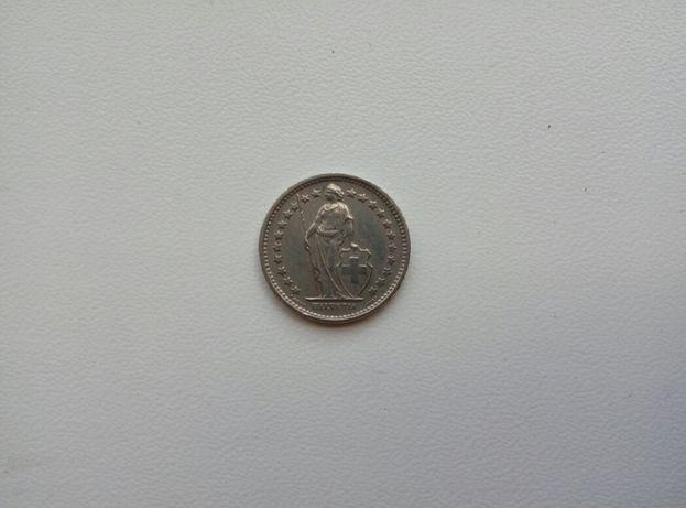Монеты Швейцарии 1/2 франка 1970г перевертыш , и другие