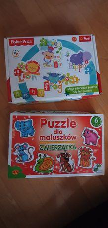 Puzzle dla maluszków, pierwsze puzzle
