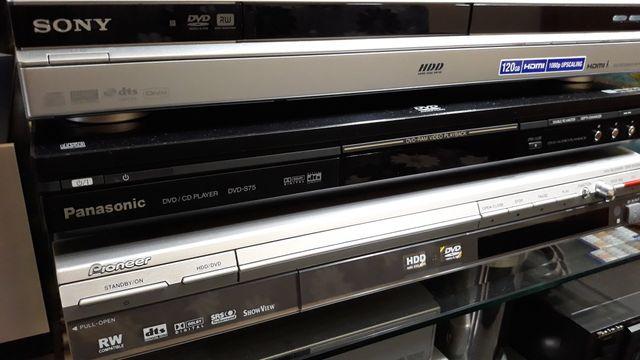 Odtwarzacz DVD z nagrywarką Panasonic Pioneer SONY.