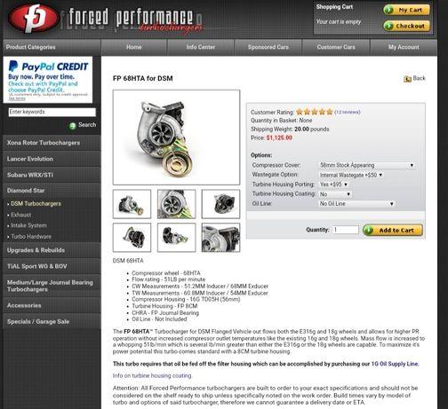 Продам турбину + коллектор FP perfomens для 4g63t, G1