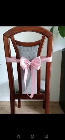 Kokardy na krzesła,dekoracje na ślub,chrzciny,komunia.Dekoracje weseln