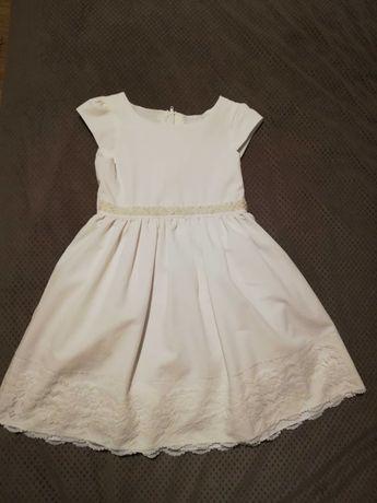 Sukienka dziewczęca, boho rozm. 116 biała