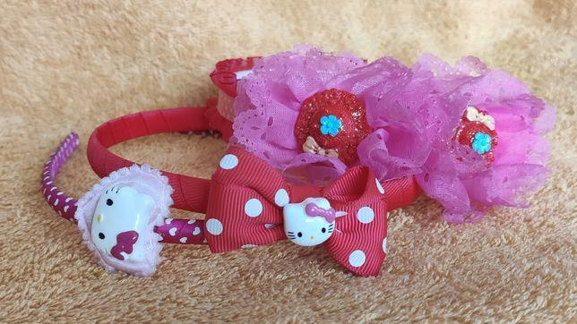 Opaski do włosów Hello Kitty i inna