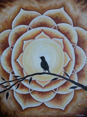 Картина маслом Мандала Абстракция Солнце
