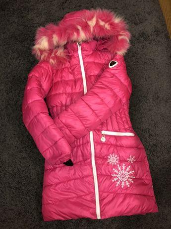 куртка пуховик пальто на дівчинку