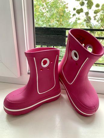 Гумові чоботи гумаки резиновые сапоги crocs kids crocband jaunt 27-28р