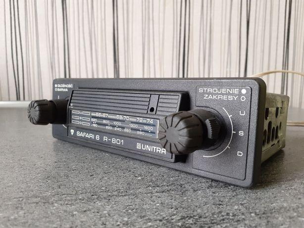 Radio Unitra R-801 Diora Safari 6 samochodowe retro PRL Fiat 125p 126p