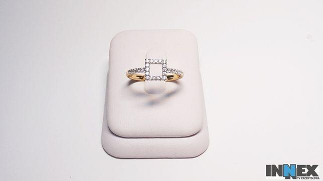 Nowy pozłacany pierścionek 059m R15