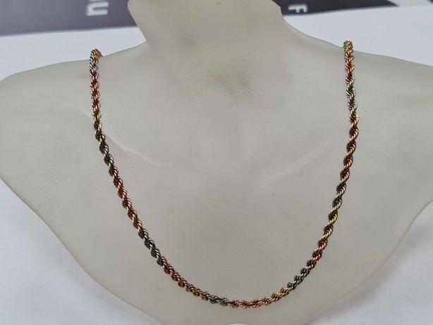 Wyjątkowy złoty łańcuszek damski/ 417/ 7.37 gram/ 47cm/ 3 kolory