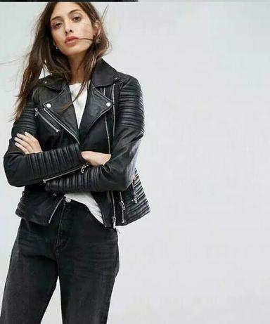 Куртка кожаная косуха крутая для девочки размер M