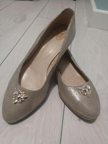 Buty ślubne skórzane witt 3cm /39