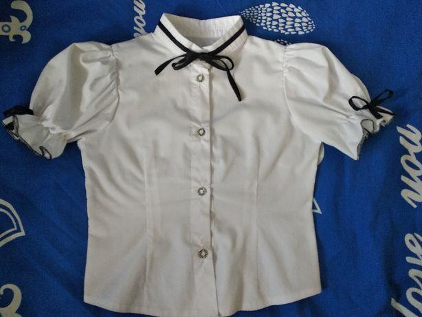 Блузка школьная с коротким рукавом, р. 1-3 класс