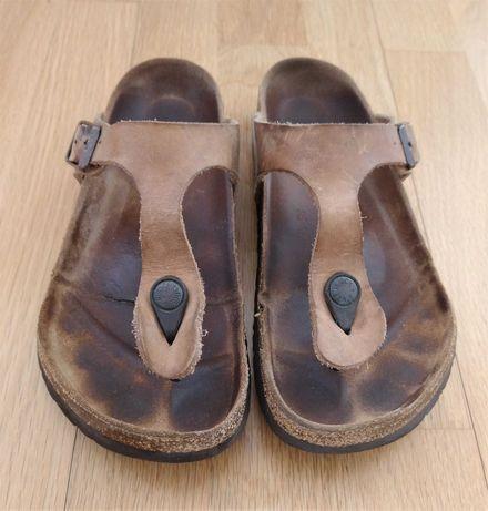 Sandálias Birkenstock Gizeh Antique Brown, tamanho 37