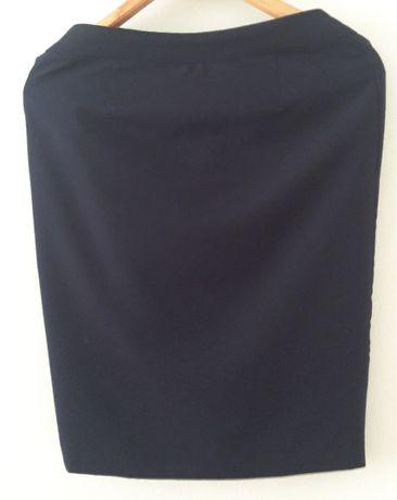 Klasycznka granatowa spódnica rozmiar 36