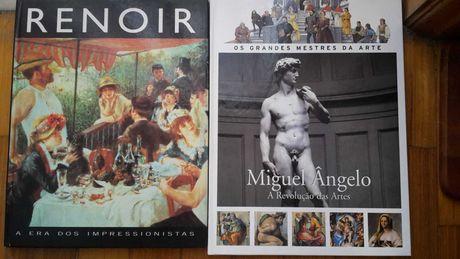 RENOIR. MIGUEL ÂNGELO  Livros A2 67Pág. Com 8 Fotos. Novos
