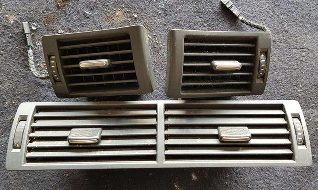 CZARNE kratki nawiewów z deski Audi a4 b6 komplet sprawne