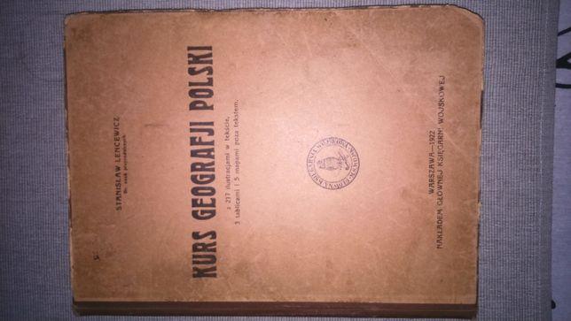 Kurs Geografii Polski z roku 1922 Stanisław Lencewicz kompletna