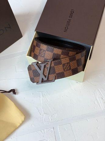 Ремень мужской коричневый пояс Луи Виттон LV Louis Vuitton r118