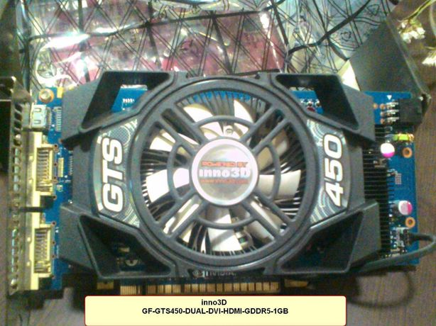 Видеокарта Inno3D GTS450-DUAL-DVI-HDMI-GDDR5-1GB