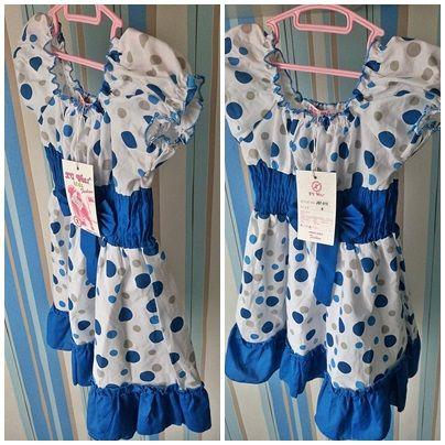 Nowa sukienka z metką rozkloszowana niebieska