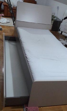 """łóżko VOX """" OVO """" 90x200 kolor szary z szufladą na pościel"""