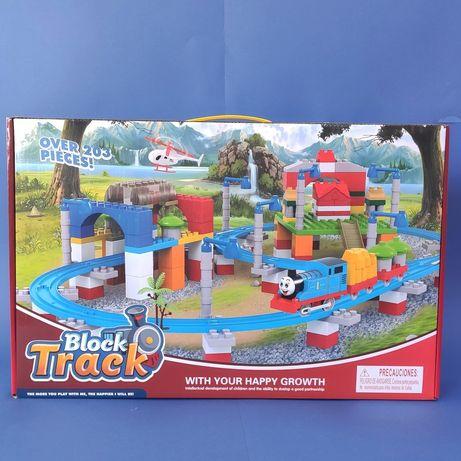 Конструктор железная дорога Block Track Паровозик Томас 203 дет.