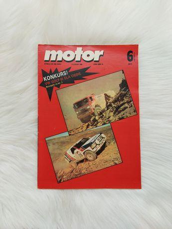 Czasopismo Motor z 1992 roku, kompletne z plakatem
