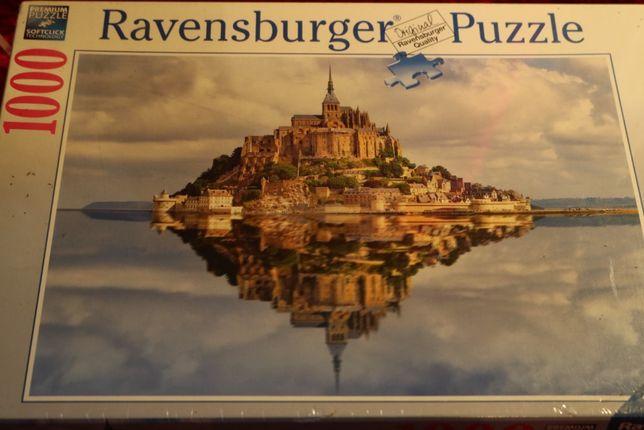 Ravensburger Puzzle 1000 elementów. Nowe. Unikat. Le Mont Saint-Michel