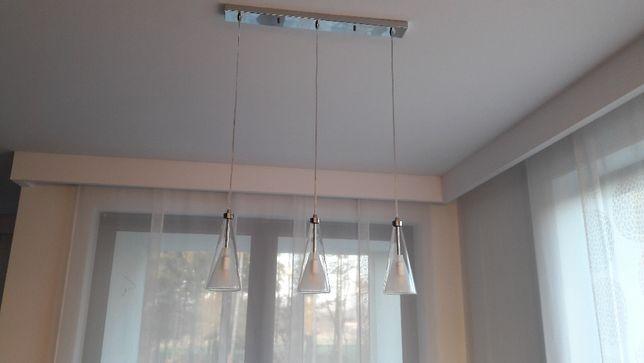 Lampa sufitowa wisząca nowoczesna szklana Italux Butio-komplet
