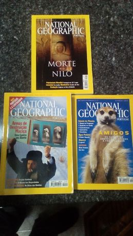 Lote de 8 revistas national geographic de 2002 a 2011