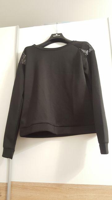 Czarna bluza modna cropp siateczka nowa