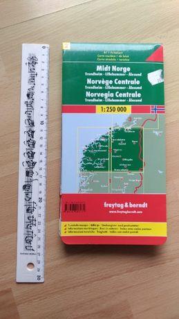 Norwegia, mapa samochodowa
