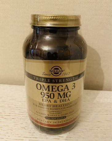 Solgar Omega Triple Strength 950 мг Солгар Омега
