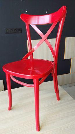 Krzesło klasyczne drewno kolor czerwony AG-150P Radomsko