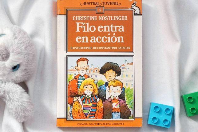 """""""Filo entra en acción"""" książka po hiszpańsku dla dzieci i młodzieży"""