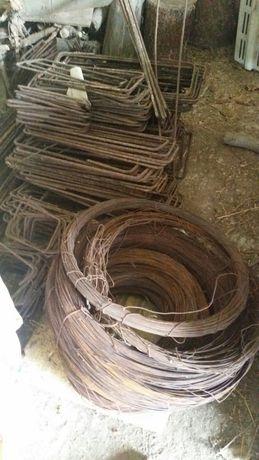 marreta estribos de várias medidas e ferro de 1.10 x6mm arame de atar