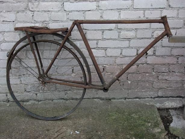 Stary rower metalowy Antyk